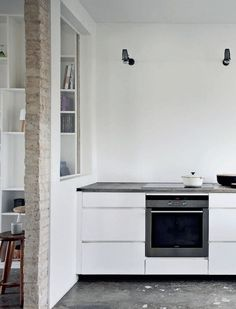 All White Kitchen in Renovated Farmhouse in Denmark