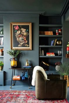 modern living room color dark