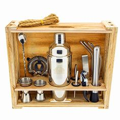 Cocktail Shaker, Cocktails, Bar Tools, Liquor Cabinet, Barware, Organization, Storage, Kitchen, Room