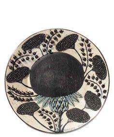 Earthenware Wall Dish, c. 1960 Arabia Birger Kaipiainen (1915–1988) Finnish  During his half-century long career at the Arabia factory, Kaip...