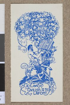 Muzeum Cyfrowe dMuseion - Ex libris Guillem A Tell y Lafont Lafont, Digital Museum, Illustrations, Ex Libris, National Museum, Artwork, Barcelona, Cards, Work Of Art
