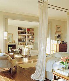 Master bedroom Dream Bedroom, Home Bedroom, Bedroom Decor, Master Bedroom, Master Suite, Bedroom Ideas, Airy Bedroom, Serene Bedroom, Library Bedroom
