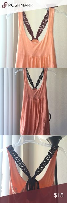 100% Rayon Urban Outfitters tunic Orange tunic top from urban outfitters with black braided back. 100% Rayon! Super soft. Urban Outfitters Tops Tunics