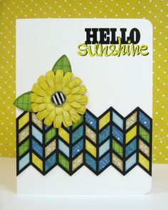 An Echo Park For the Record Chevron Card using Silhouette shapes designed by Lori Whitlock.