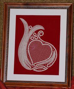 Figura srca, ozki ris, polpremet, mreža.