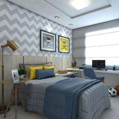 warm modern bedroom design with midcentury dresser via Anne Sage Small Bedroom Designs, Teenage Room, Boys Bedroom Decor, Bedroom Furniture, Kids Room Design, Luxurious Bedrooms, Luxury Bedrooms, Master Bedrooms, Modern Bedroom