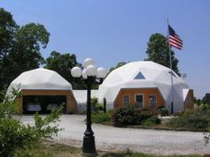 dome garage with dome home