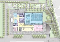 Image 55 of 67 from gallery of Tucheng Sports Center / Q-Lab. First Floor Plan Center Sport, Hotel Floor Plan, Piscina Interior, Sports Gallery, Sports Stadium, Landscape Design Plans, Sport Hall, Sports Complex, Graduation Project