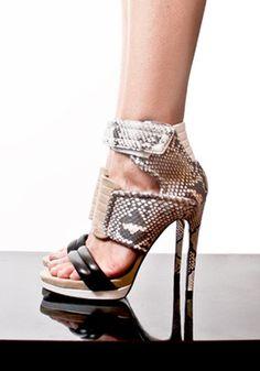 shoe-phoria | BARBARA BUI | heels | snake skin | beige | black |