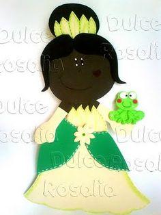Fofuchas Eva e Cia: Molde da Princesa e o Sapo