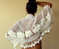 White crochet shawl - must make!