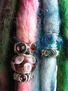 wool dread extension with dread beads by DreadGoddess on Etsy, $7.00