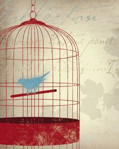 Also this...so I'm sorta into birds in birdcages.... for some reason....