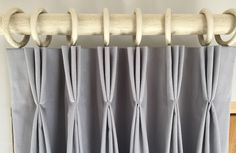 How to make a triple pleat curtain tutorial by Sew Helpful                                                                                                                                                                                 More