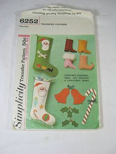 Vintage 60s CHRISTMAS STOCKINGS Tiny Boots Pattern by LavenderGardenCottage etsy