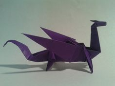 How to make an easy origami dragon step by step DIY tutorial instructions   How To Instructions