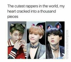 BTS rapper line is dead, they're to fluffy for cypher pt. sorry bae~ JOKING JOKING the cyphers are my LYFFFEEE but they're the cutest human beings ever okokokok ❤ i mean when it comes to insulting theyre a whole knew rap line 😂 Bts Suga, Bts Bangtan Boy, Bts Boys, Jhope, 2ne1, K Pop, Seokjin, Namjoon, Got7