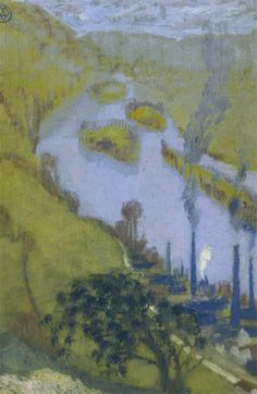 Vue de La Seine Amont Rouen   -  Maurice Denis 1904