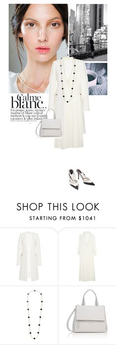 """Calme Blanc"" by drigomes ❤ liked on Polyvore featuring Bensimon, Thierry Mugler, Chloé, Givenchy and Gucci"