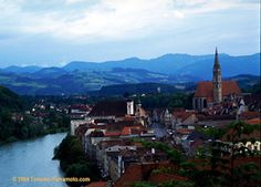 Perhaps not as famous as some of Austria's other jewels, Steyr is a gorgeous riverside town worth a visit. Dream Trips, Steyr, Hot Spots, Photo Diary, Bucket Lists, Old Town, Austria, Places Ive Been, Vacations