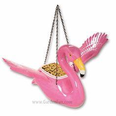 Pink Flamingo Bird Feeder/Planter