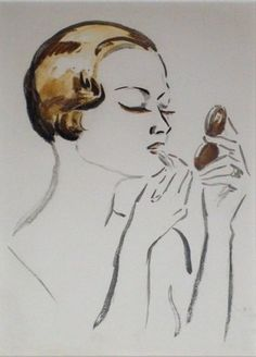 Kees van Dongen – uitzonderlijk | Alnorum Art Femme se maquillant Techniek: Lithografie Jaar van uitgifte: ca. 1925 - 1930 Oplage: slechts enkele Zeer zeldzame steendruk in perfecte staat Op voorraad in de collectie van Alnorum Art