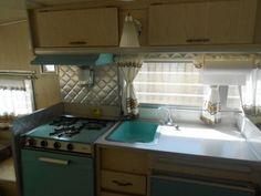 1966 LoLiner vintage camper trailer. Turquoise!