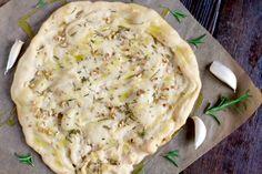 Grain Free Rosemary Garlic Flatbread (paleo, nut free) ~~ savorylotus.com