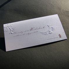 Blindprägung Weihnachtskarte