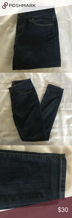 The loft skinny jeans Basically new the loft skinny jeans. They are dark wash and stretchy . Mid rise . Jeans Skinny
