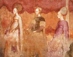 size: Giclee Print: Ball Game, Detail from Games of the Borromeo Nobles Fresco Cycle by Michelino Da Besozzo : Milan Italy, Gradient Color, Fresco, Printing Process, Find Art, Framed Artwork, Renaissance, Giclee Print, Detail