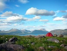 'Enjoying a beautiful wildcamp in Torridon after walking from Applecross. It's windier than it looks though...' It might be windy but it looks beautiful @jbarlosk! 😃  #visitscotland #LoveScotland #ScotSpirit #camping #wildcamping #torridon