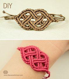 Celtic Style Macrame Bracelet - http://youtu.be/JroJdkfCLho