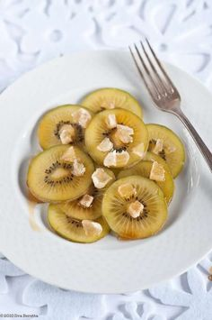 Kiwi With Candied Ginger and Maple Syrup.