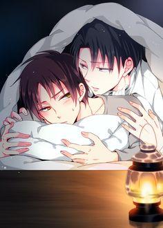 Rivaille (Levi) & Eren Jaeger | Shingeki no Kyojin #anime #yaoi