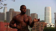 Micheal Jai White doing a Kata in Blood and Bone Michael Jai White, Blood And Bone, Martial Artist, American Actors, Stunts, Karate, Gorgeous Men, Black Men, Movie Tv