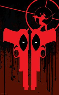 Two gun Deadpool by TomKellyART-- http://tomkellyart.deviantart.com/art/Two-gun-Deadpool-328242821