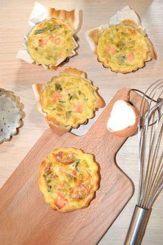 Tartelettes au poireau et saumon fumé express