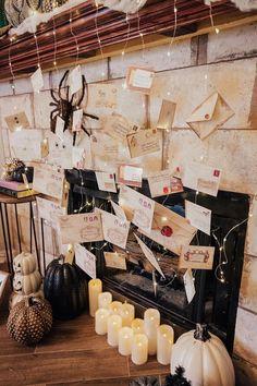 Our Harry Potter Halloween Decorations - Mantle Decor DIY