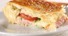 Bauru de Forno Paella, My Favorite Food, Favorite Recipes, Spicy Hummus, Cheese Sandwich Recipes, Sandwich Ideas, Food Plus, Sugar Free Chocolate Chips, Salty Foods