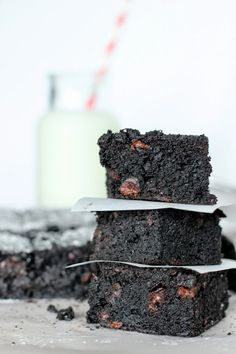 Thomas Keller Ad Hoc Brownies- These brownies are so dense, chewy and filled with dark chocolate!