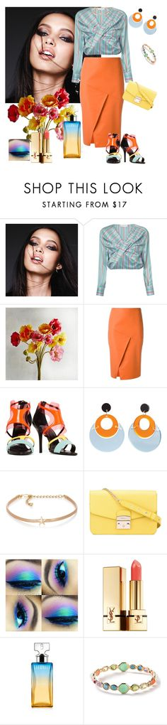 """""""Beauty"""" by denibrad ❤ liked on Polyvore featuring Urban Decay, Esteban Cortazar, Pier 1 Imports, Andrea Marques, Pierre Hardy, Toolally, Kenneth Jay Lane, Furla, Yves Saint Laurent and Calvin Klein"""