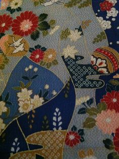 From my collection of chirimen fabric.....v