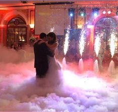 Dry ice for the #wedding waltz. Image via dj4torontowedding.com