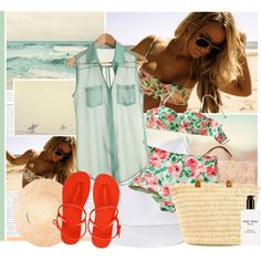Going To The Beach..., created by bklana on Polyvore  LOVE THIS!!!