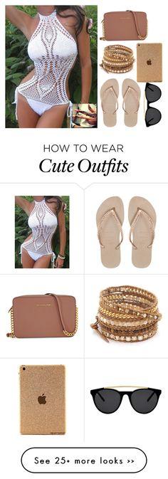 """Cute Bikini OutFit"" by mermaids533 on Polyvore featuring Chan Luu, Havaianas, Michael Kors and Smoke & Mirrors"