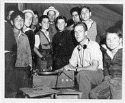 American Memory-LOC. [Charles Todd at the recording machine surrounded by a group of Mexican boys and men]