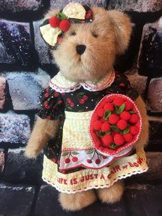 Mary Engelbreit Boyds Bears Teddy Bear Plush Cherry Cherries Dress RARE FIND  | eBay