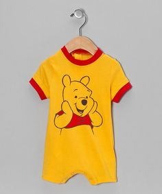 Take a look at this Yellow Winnie the Pooh Romper - Infant by Winnie the Pooh on #zulily today! $10.99