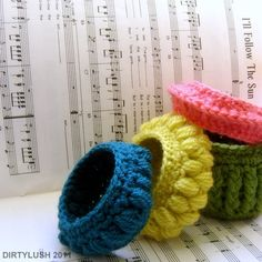 DIY: crochet bracelets